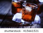 alcoholic cocktail bourbon cola ... | Shutterstock . vector #415661521