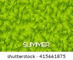 abstract green summer leaves... | Shutterstock .eps vector #415661875
