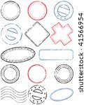 a set of different stamps. all... | Shutterstock .eps vector #41566954