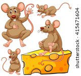 Brown Mouse And Cheese Slice...