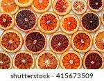 Orange Background. Sliced Ring...