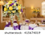 table setting at a luxury... | Shutterstock . vector #415674019