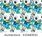 seamless pattern with hand... | Shutterstock . vector #415683031