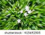 flower and leaf zoom blur | Shutterstock . vector #415692505