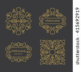 logo design template  | Shutterstock .eps vector #415692919