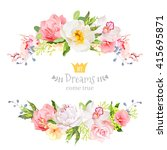 lovely wishes floral vector... | Shutterstock .eps vector #415695871