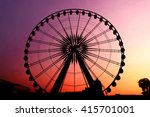 silhouette giant swing on... | Shutterstock . vector #415701001