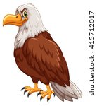 wild eagle on white background... | Shutterstock .eps vector #415712017