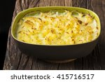 fish pie topped with mashed...   Shutterstock . vector #415716517
