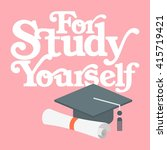 study quotes template  | Shutterstock .eps vector #415719421