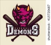 modern professional baseball... | Shutterstock .eps vector #415720687