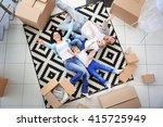 moving concept. happy family... | Shutterstock . vector #415725949