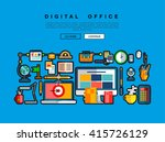 flat web design template with...