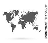 world vector map.icon.... | Shutterstock .eps vector #415728949