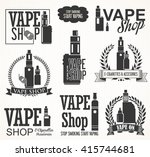 elements for vapor bar and vape ... | Shutterstock .eps vector #415744681