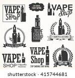 elements for vapor bar and vape ... | Shutterstock .eps vector #415744681