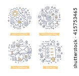 doodle illustrations of email... | Shutterstock .eps vector #415753465