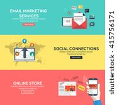 flat design concept of email... | Shutterstock .eps vector #415756171