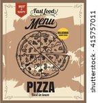 restaurant fast foods menu... | Shutterstock .eps vector #415757011