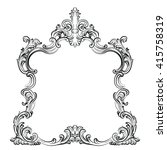 luxurious glamorous baroque... | Shutterstock .eps vector #415758319