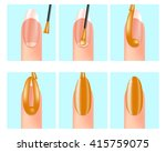 Painting your nails - instructions . Nail Painting Tips. Manicure scheme. Tutorial for how to do a traditional manicure. Manicure  instructions