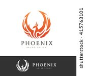 phoenix logo template. | Shutterstock .eps vector #415763101