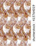 golden seamless pattern with... | Shutterstock .eps vector #415764019