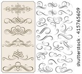 set of calligraphic flourishes... | Shutterstock .eps vector #415765609