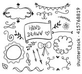 set of hand drawn decorative... | Shutterstock .eps vector #415768819