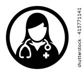 woman doctor icon   vector | Shutterstock .eps vector #415771141