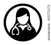 woman doctor icon   vector   Shutterstock .eps vector #415771171