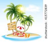 summer holiday   beach holiday | Shutterstock .eps vector #415772839