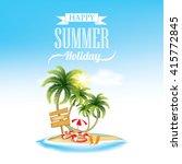 summer holiday   beach holiday   Shutterstock .eps vector #415772845