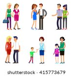 detailed character people... | Shutterstock .eps vector #415773679
