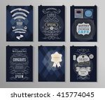 set of poster  flyer  brochure... | Shutterstock .eps vector #415774045