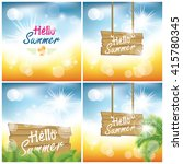 summer holiday background | Shutterstock .eps vector #415780345