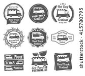 Food Truck Festival Vintage...