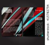 vector brochure template design ...   Shutterstock .eps vector #415782754
