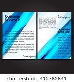 vector brochure template design ... | Shutterstock .eps vector #415782841
