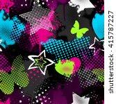 grunge seamless pattern for... | Shutterstock .eps vector #415787227