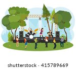 outdoor music festival. people ... | Shutterstock .eps vector #415789669