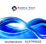 abstract blue background  | Shutterstock .eps vector #415799035