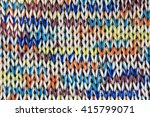 Knitted Fabric Of Colored Yarn.