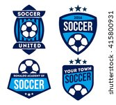 football badges and logo... | Shutterstock .eps vector #415800931