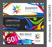vector colorful banner made of... | Shutterstock .eps vector #415802455