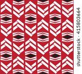 seamless white zig zag native... | Shutterstock .eps vector #415803664
