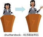 anxious businesswoman character ... | Shutterstock .eps vector #415806901