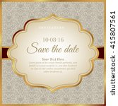 invitation card template | Shutterstock .eps vector #415807561