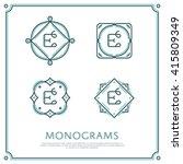 line letter e monogram. vector... | Shutterstock .eps vector #415809349