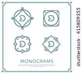 line letter d monogram. vector... | Shutterstock .eps vector #415809355